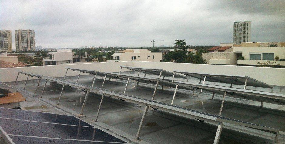 paneles solares azotea