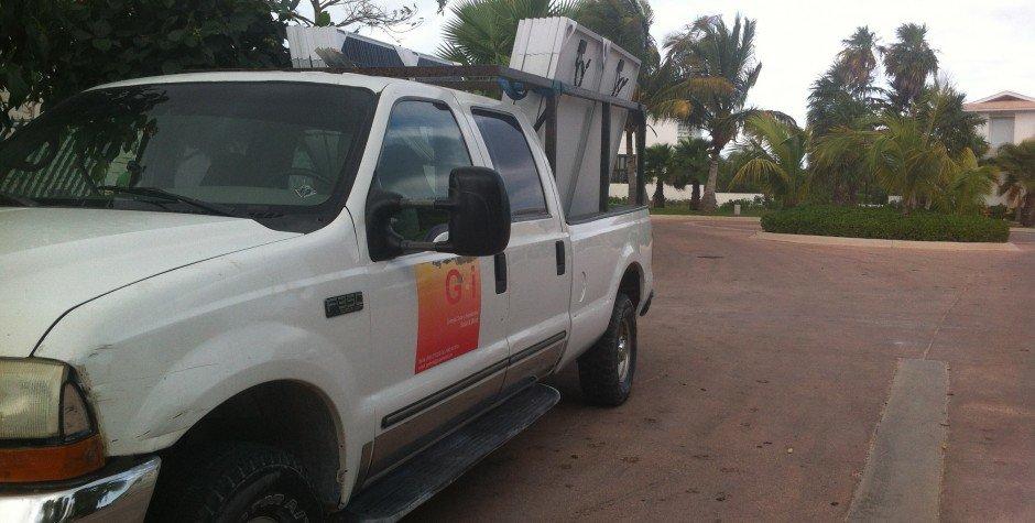 transporte de paneles solares